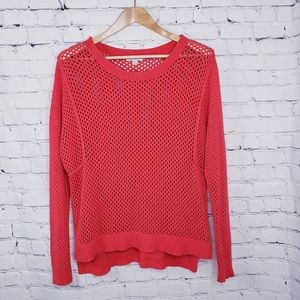Katherine Barclay Open Weave Knit Sweater Cover Up